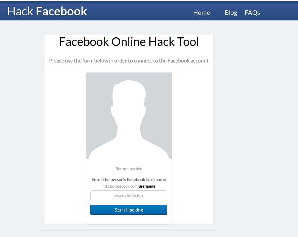 Facebook good reason to hack an account